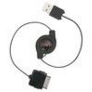 Insten Retractable USB Cable Cord for Microsoft Zune 30GB