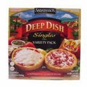Sabatasso's Pizzeria Deep Dish Singles - Pepperoni & Four Cheese Variety Pack