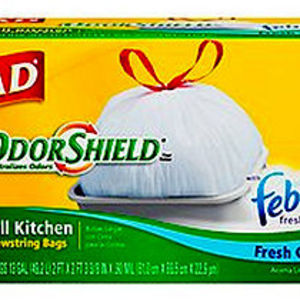 Glad Odor Shield with Febreze Tall Kitchen Drawstring Bags