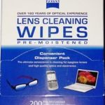 Zeiss Lens Cleaning Wipes 200 count package