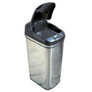 itouchless DZT13 13 Gallon Stainless Steel Touchless Trashcan