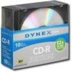 DynexTM - 10-Pack 52x CD-R Discs with Jewel Cases DX-CDMR10 52x Media