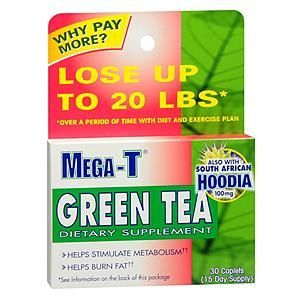 Mega-T Green Tea Weight Loss Supplement with Hoodia