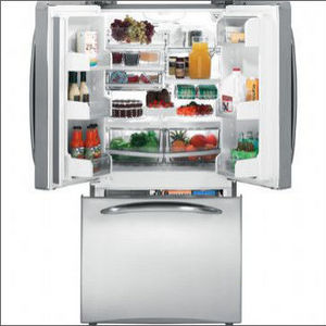 Beau GE Profile Bottom Freezer French Door Refrigerator PFSS2MJX