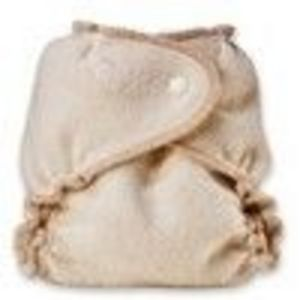 Kissaluvs Organic Cotton/Hemp Fitted Diaper, Unbleached