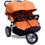 X-Tech Outdoors CityX3 Twin - Orange Jogger Stroller