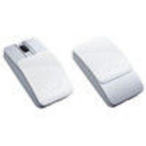 Sony VAIO VGP-BMS15/WI Bluetooth Slider Mouse - 800dpi Laser, White and Purple Sliding Covers