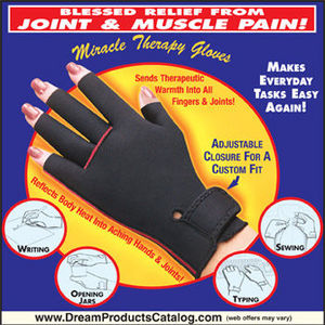 DREAM PRODUCTS MIRACLE THERAPY GLOVES