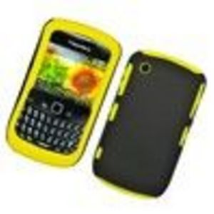 Blackberry 8520 8530 9300 Curve Hybrid Protector Case ( Rubberzied Hard Plastic Inner Cover and Silicone Outer Cover)