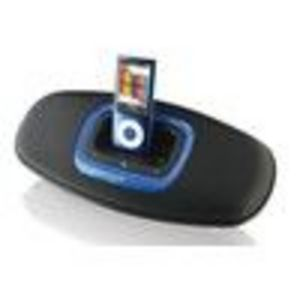 ILIVE ISP150B BLACK PORTABLE SPEAKER FOLDABLE IPOD DOCK IPOD/IPAD/IPHONE ACCESSORIES Docking Station