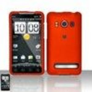 HTC EVO 4G rubberize Premium SnapOn Phone Protector Cover Case with Screen Protector + Small Microfiber Cleaning Cloth