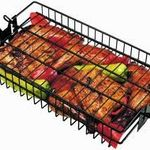 GrillPro Non-Stick Flat Spit Rotisserie Grill Basket