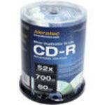 Alera Technologies Aleratec 52x 700MB LightScribe CD-R Media - 100-Pack - 110121 52x