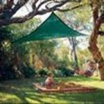 "Coolaroo 11'10"" Triangle Shade Sail In Brunswick Green"