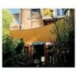 "Coolaroo 17'9"" Square Shade Sail with Hardware Kits, Desert Sand"