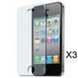 Skque 3 Pack Anti Glare Screen Protector Shield Guard with Cleaning Cloth for Apple iPhone 4
