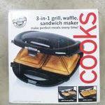 Cooks 3-in-1 Grill/Waffle/Sandwich Maker