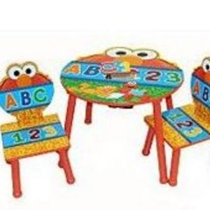 Idea Nuova Sesame Street Elmo 3 Piece Table And Chairs