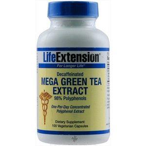 Life Extension Mega Green Tea Extract Decaffeinated 100 Veg Caps
