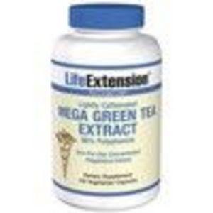 Mega Green Tea Ext Lightly Caffeinated 100 Veg Caps (Life Extension)