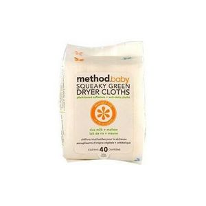 Method Baby - Squeaky Green Dryer Cloths - Rice Milk & Mallow