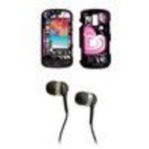 Samsung Rogue U960 Premium and Heart SnapOn Case Cover Protector + 3.5mm Stereo Hands- Headphones for Samsung Rogue U960