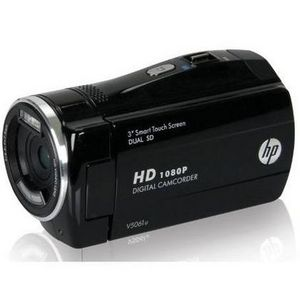 HP - 1080p Digital Camcorder with 3-Inch Touchscreen LCD (Black)