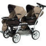 Peg Perego Duette Twin Standard Stroller - TOFFEE