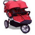 X-Tech Outdoors CityX3 Twin - Red Jogger Stroller