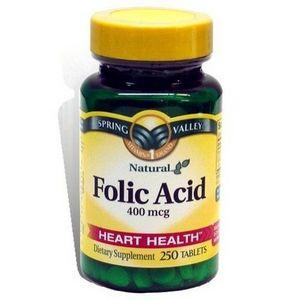 Spring Valley Folic Acid 400 Mcg Tablets
