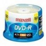 Maxell (638011) 16x DVD-R Spindle (50 Pack)