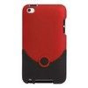 iFrogz Luxe Hard Case Holster (IT4LOREDBLK) for iPod Touch 4G - Red
