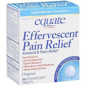 Equate Effervescent Antacid & Pain Relief