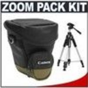 Canon Zoom Pack 1000 Holster Case + Deluxe Camera Tripod for Canon EOS 5D, 40D, 30D, 50D, T1i, XS, X...