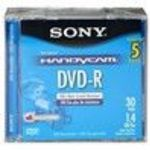 Sony (5DMR30R1H) (5DMR30L1H) 2x DVD-R Jewel Case Storage Media (5 Pack)