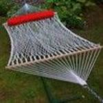Outdoor Patio Deluxe Double Rope Hammock - Natural (Algoma)