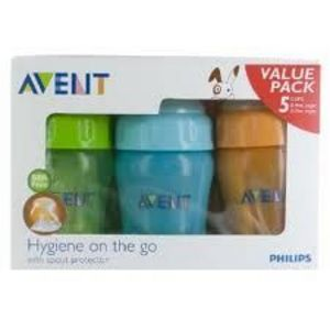 Philips Avent Value Pack Toddler Cups - 5 pack Assorted Colors Baby Bottle