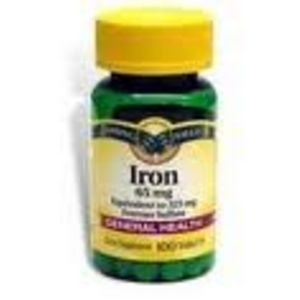 Spring Valley 65mg. Iron Supplement