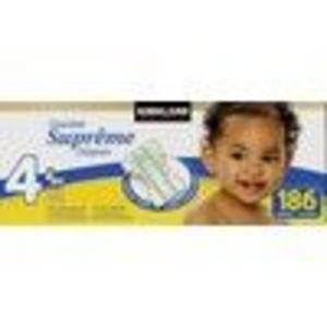 Kirkland Signature Diapers, Size 4, 186 Diapers