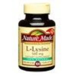 Nature Made L-Lysine 500 mg Tablets