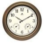 "Outdoor Clock with Thermometer and Hygrometer 18"" Diameter (Infinity)"