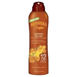 Hawaiian Tropic Tanning Dry Oil Clear Spray Sunscreen SPF 12