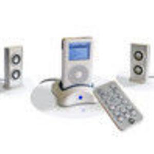 CTA Digital (IP-RSS) Docking Station, Remote Control, Speaker System for Apple iPod