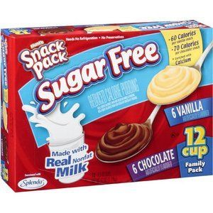 Hunt's - Sugar Free Snack Pack Pudding, Chocolate or Vanilla