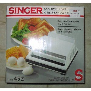 Singer Sandwich Maker Grill Model