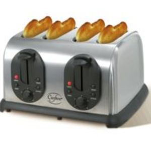 Crofton 4 Slice Stainless Steel Toaster