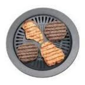 Chefmaster Non-Stick Smokeless Indoor Stovetop Barbeque Grill