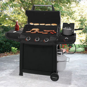 UniFlame 40,000 BTU 3 Burner Gas Grill with Side Burner
