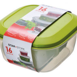 StarPlast 16 Piece Food Storage Set