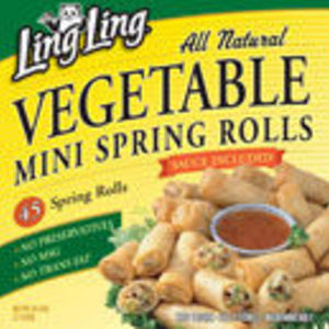 Ling-Ling All Natural Vegetable Mini Spring Rolls